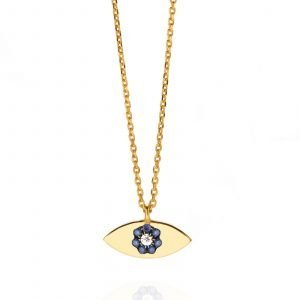 Necklace Eye with sapphires