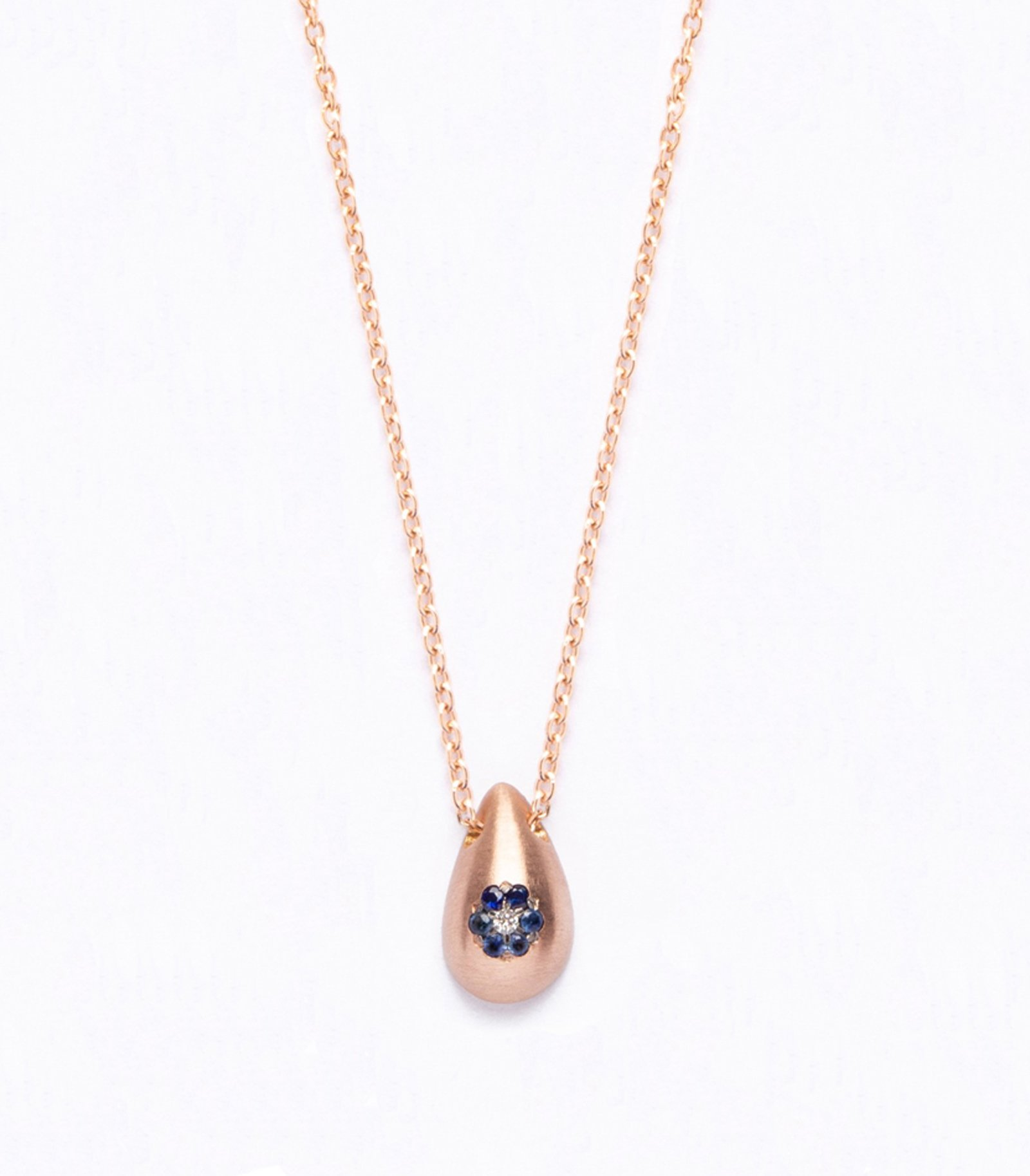 Necklace flower gold with precious stones