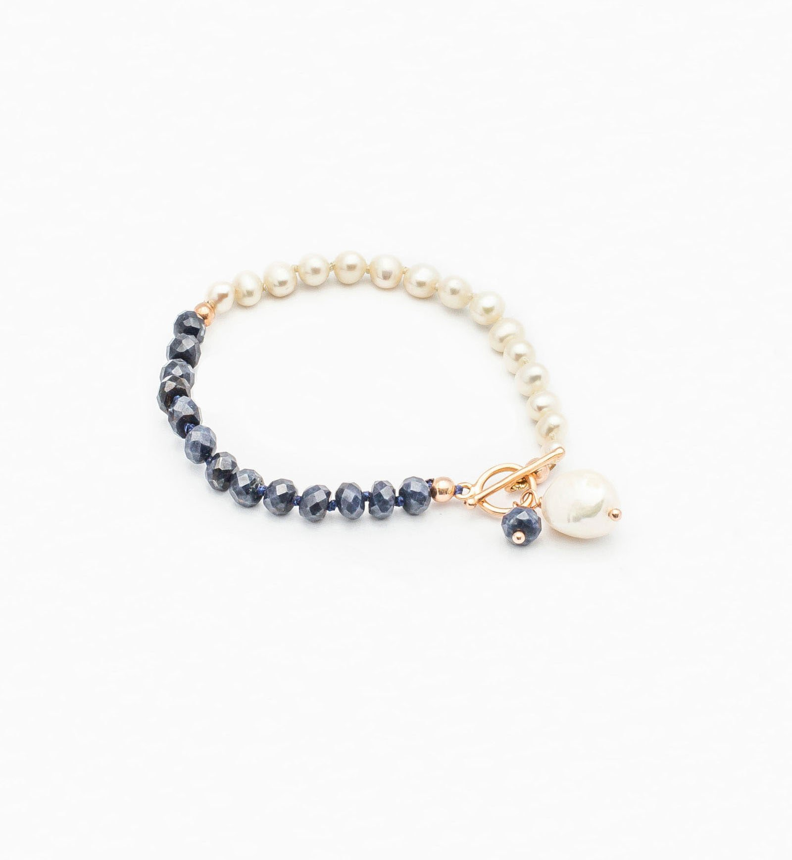 Bracelet with Sapphires & Pearls