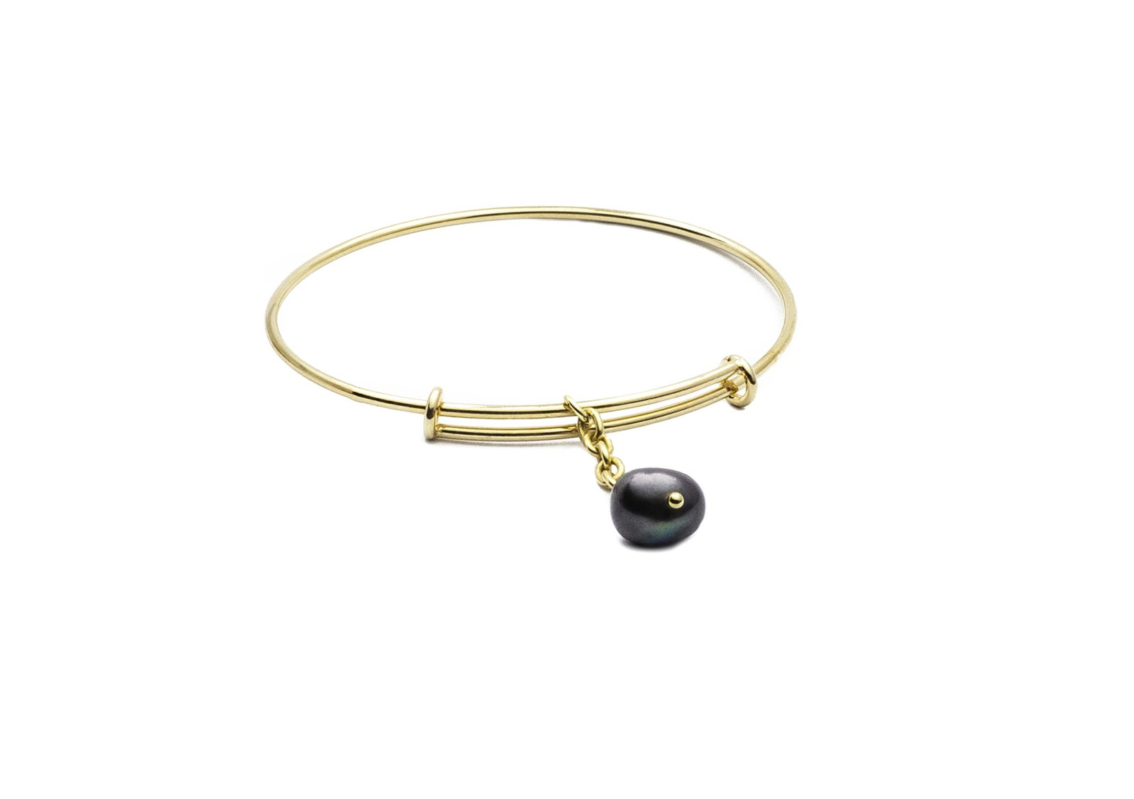Bracelet silver gold plated with pearl