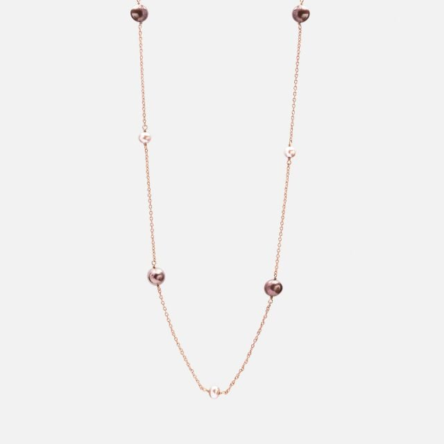 Long Necklace with Pearls